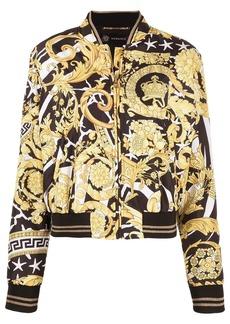 Versace Savage Barocco print bomber jacket