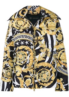 Versace Savage Barocco print down jacket