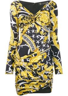 Versace Savage Barocco print dress