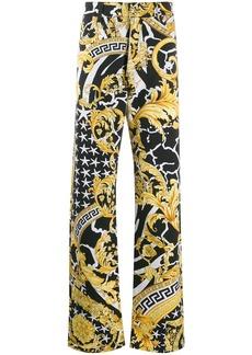 Versace Savage Barocco print jeans