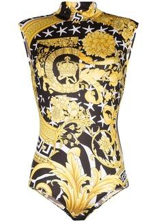 Versace Savage Barocco sleeveless bodysuit