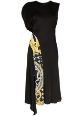 Versace Savage Baroque stripe midi dress