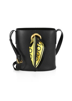 Versace Scarf Leather Bucket Bag
