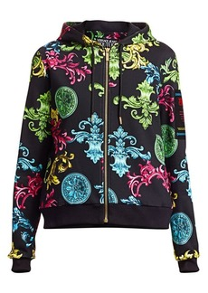Versace Scroll-Print Zip-Up Hoodie