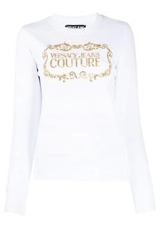 Versace sequin-logo crew-neck sweatshirt