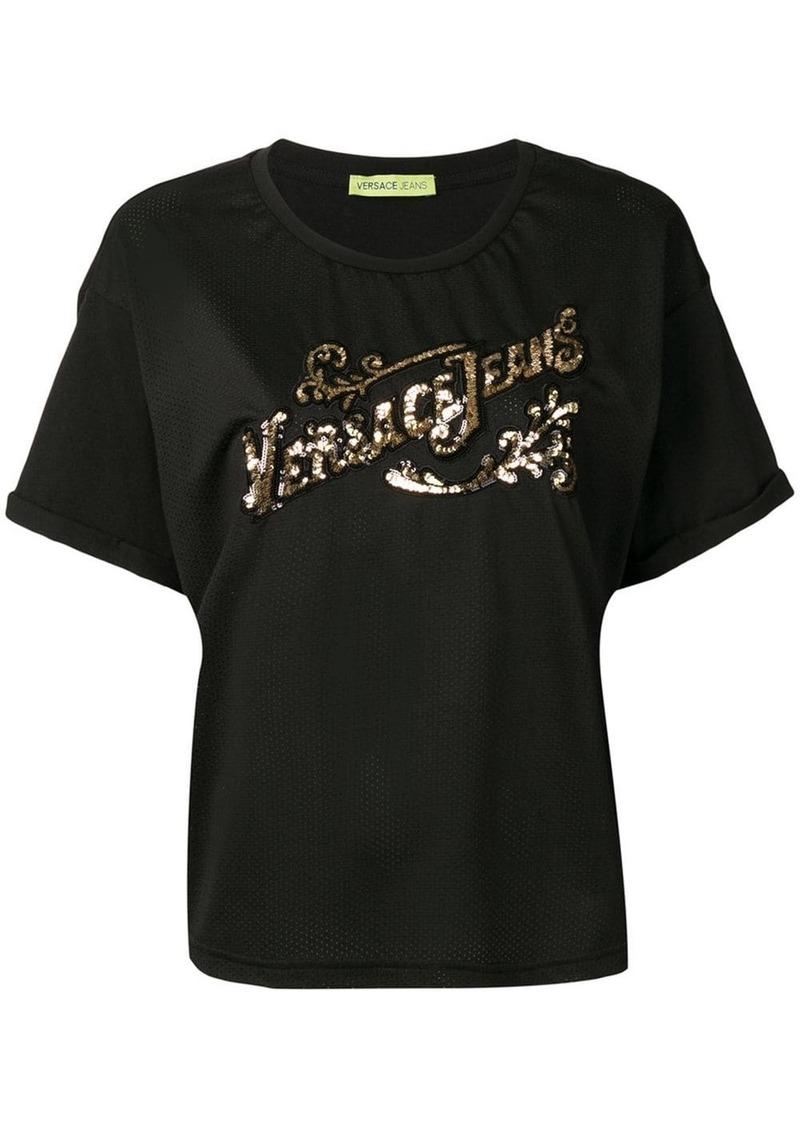Versace sequin logo T-shirt