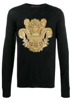Versace sequined and embroidered Medusa jumper