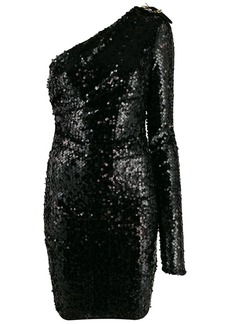 Versace sequinned one-shoulder dress
