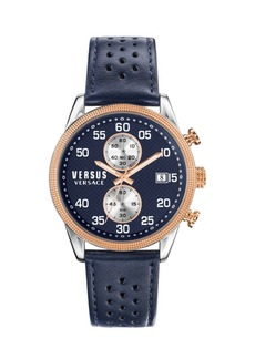 Versace Shoreditch Two-Tone Stainless Steel & Leather-Strap Watch