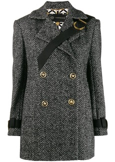 Versace short herringbone coat