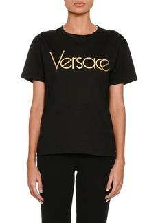 Versace Short-Sleeve Crewneck Logo T-Shirt