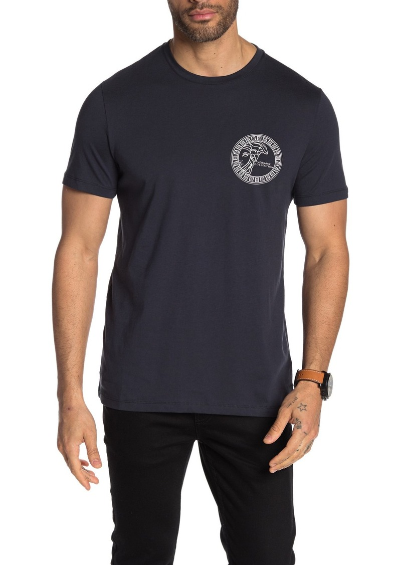 Versace Short Sleeve Knit Printed T-Shirt