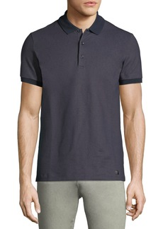 Versace Short-Sleeve Stretch Polo Shirt