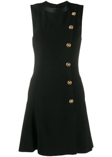 Versace side button short dress