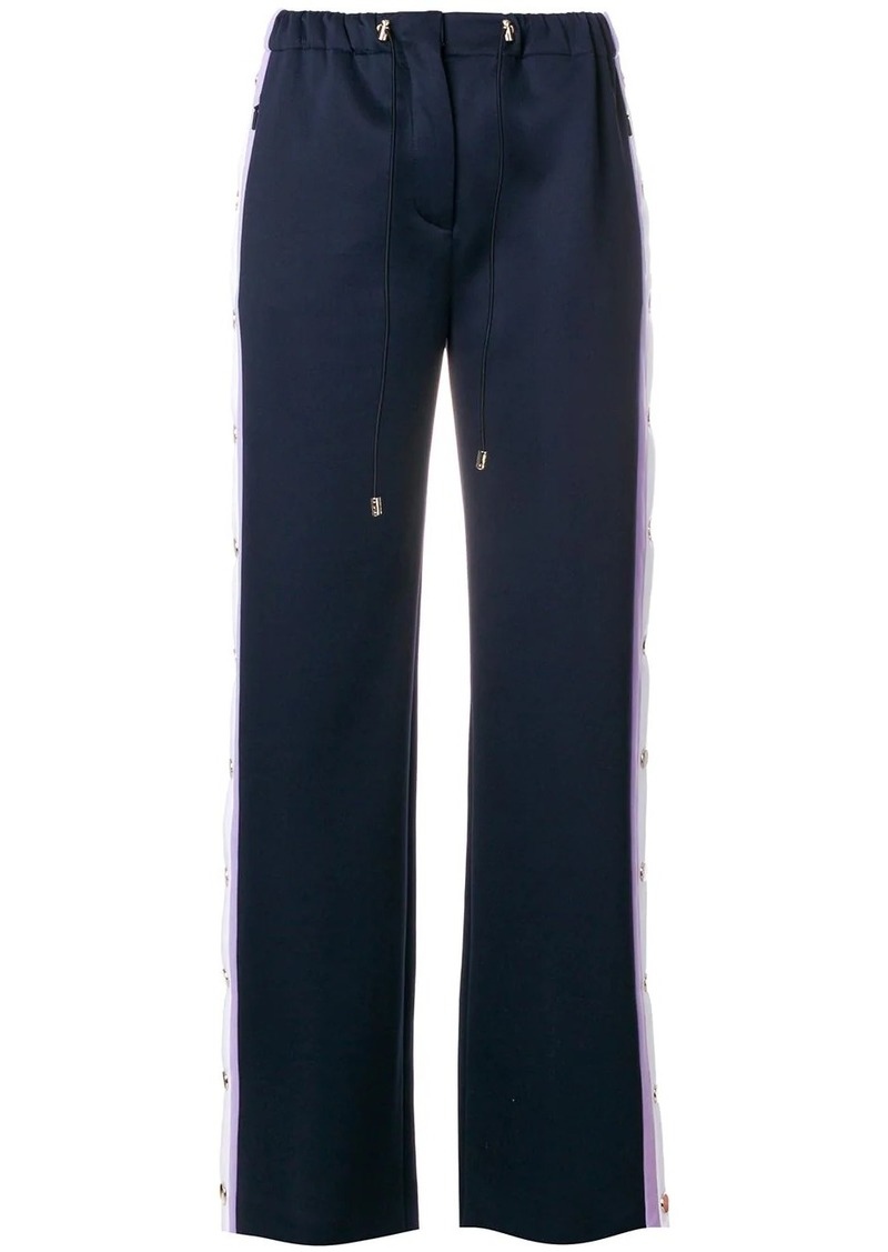 Versace side stripe trousers