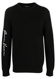 Versace signature crew neck jumper