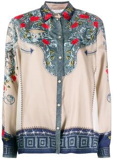 Versace silk floral print shirt