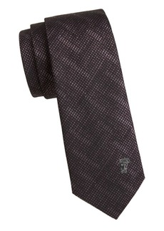 Versace Silk Patterned Medusa Tie