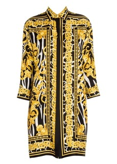 Versace Silk Savage Baroque Print Shirtdress