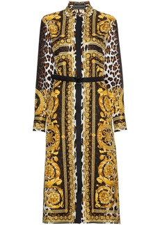 Versace Silk Signature Print Dress