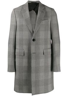 Versace single-breasted plaid midi coat