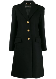 Versace single-breasted wool coat
