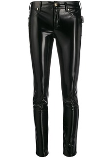 Versace skinny patent-leather trousers