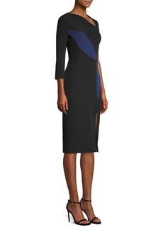 Versace Slash Colorblock Sheath Dress