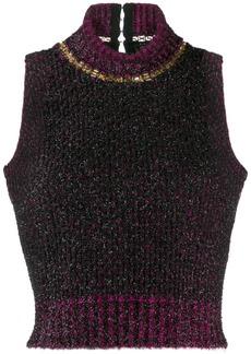 Versace sleeveless knitted top