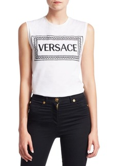 Versace Sleeveless New Logo Cotton Tee