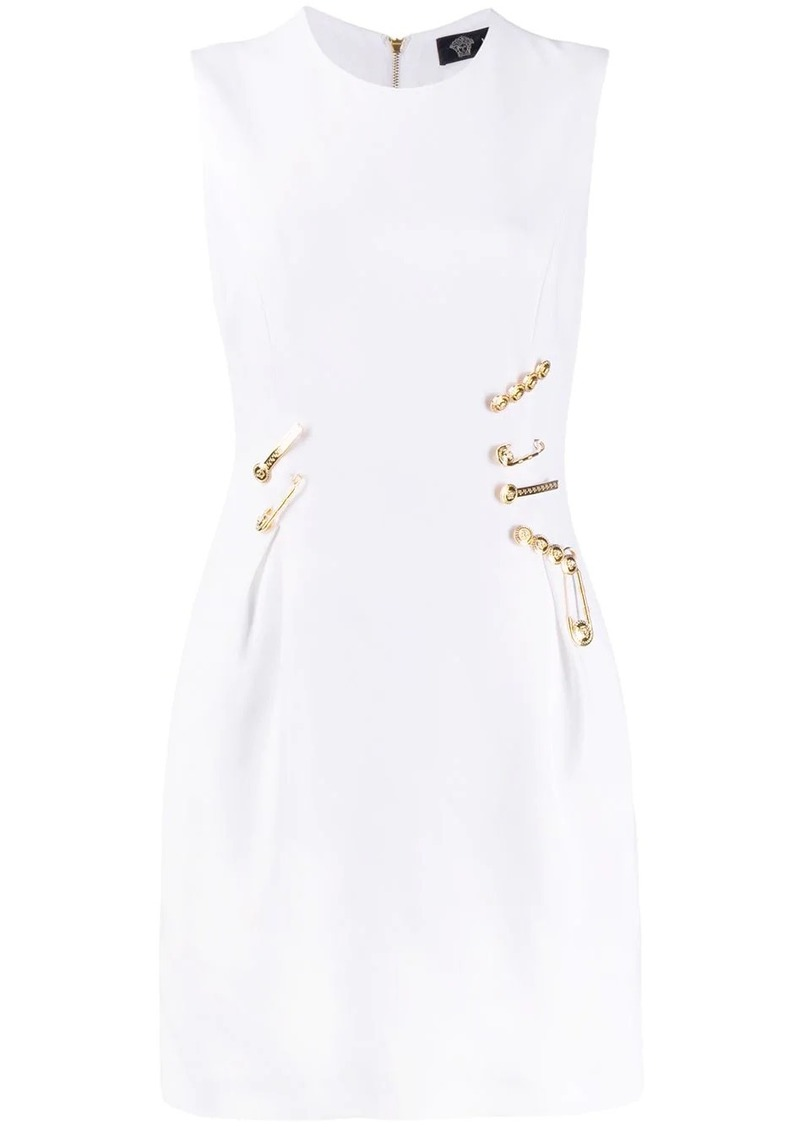 Versace sleeveless pinned mini dress