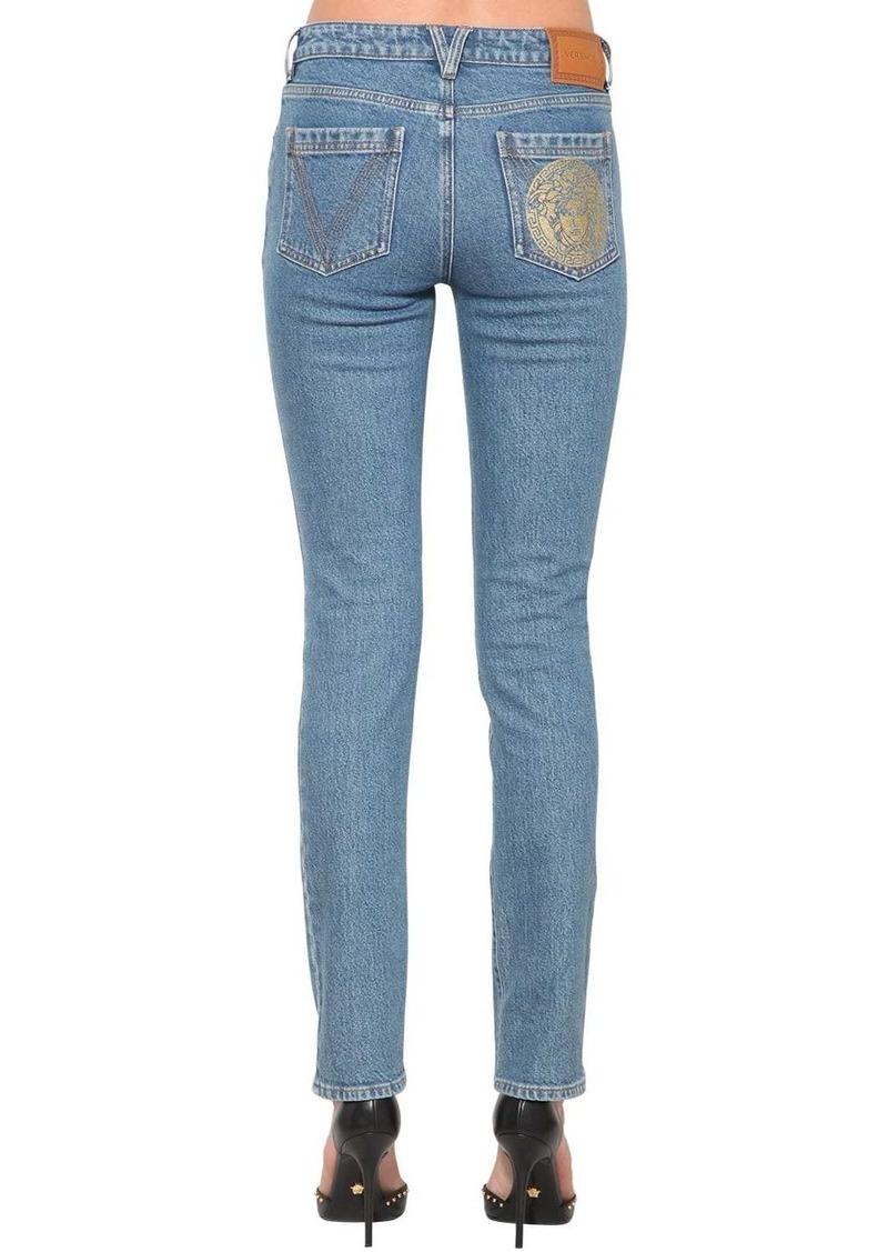 Versace Slim Cotton Denim Jeans