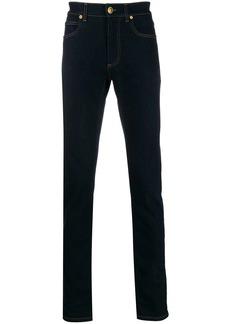 Versace slim-fit contrast stitch jeans