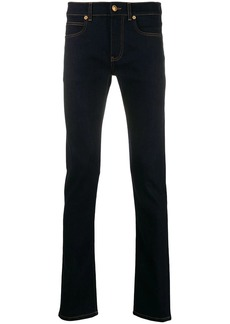 Versace slim fit jeans with patches