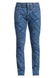 Versace Slim-FIt Stone Wash Logo Jeans