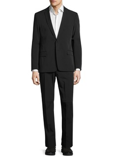 Versace Slim-Fit Woven Solid Two-Button Suit