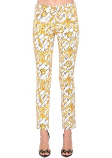 Versace Slim Printed Cotton Denim Jeans