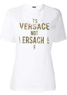 Versace slogan print T-shirt