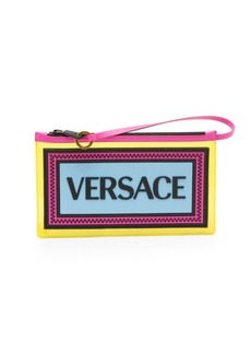Versace Small Clear Vinyl Logo Top Handle Bag