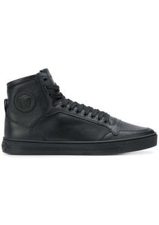 Versace smooth hi-top sneakers