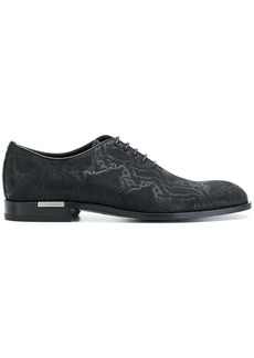 Versace snake textured lace-up shoes