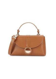 Versace Snap Flap Leather Satchel