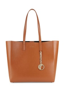 Versace Snap-Top Leather Tote