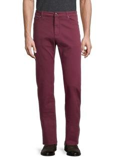 Versace Solid-Color Regular-Fit Jeans