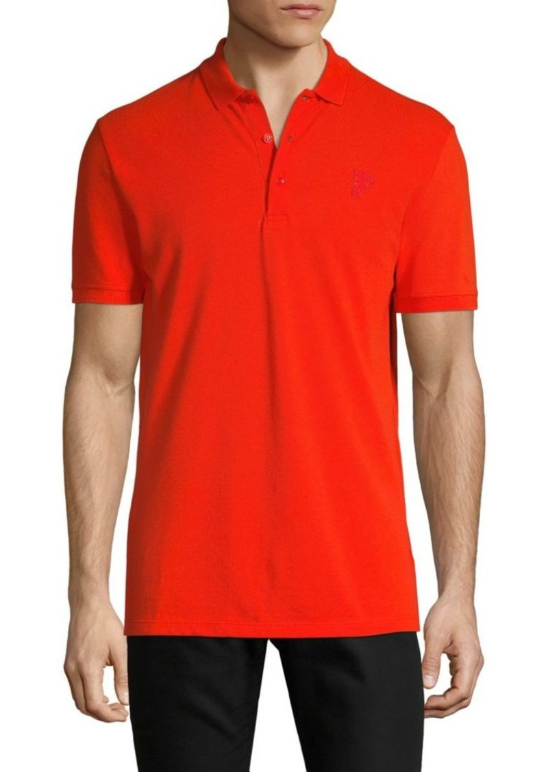 Versace Solid Cotton Polo