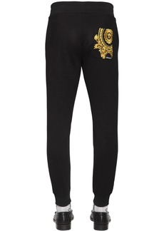 Versace Sport Pants W/ Embroidery Detail