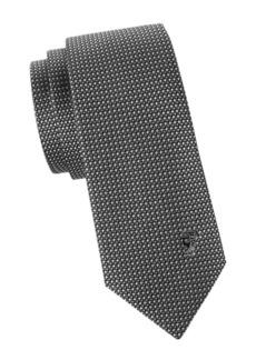 Versace Square Printed Silk Tie