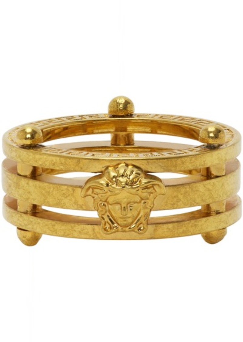 Versace SSENSE Exclusive Gold Medusa Greek Ring