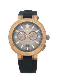 Versace Stainless Steel & Rubber-Strap Watch