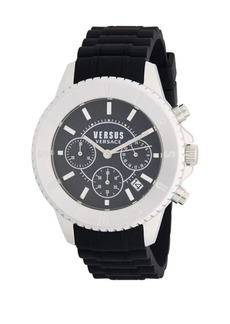 Versace Stainless Steel & Rubber Strap Watch